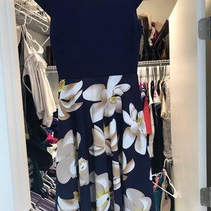 Women's knee-length floral dress